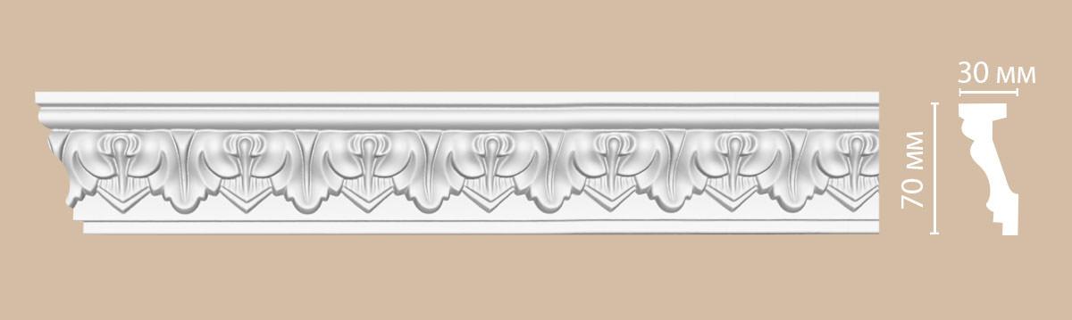 Плинтус потолочный с рисунком DECOMASTER 95214F гибкий (70*30*2400мм)