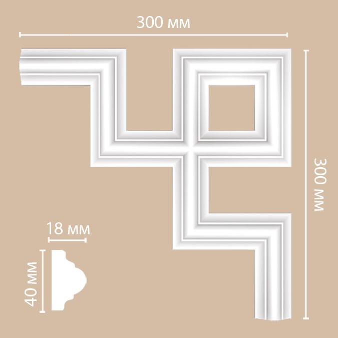 Угол DECOMASTER 97010-9 (300*300*18мм)