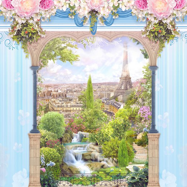 Балкон Нежный фон голубой
