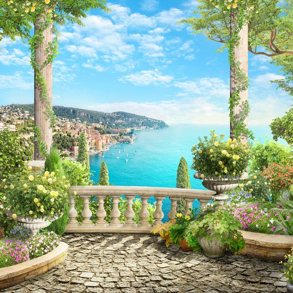 Балкон в зелени