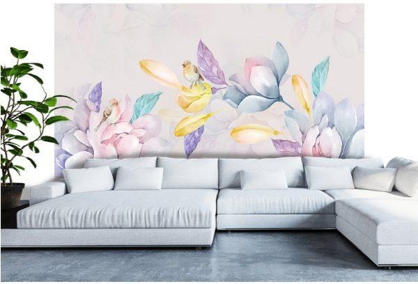 Фотообои Акварельные цветы