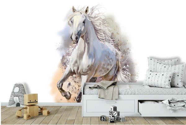 Белый конь живопись