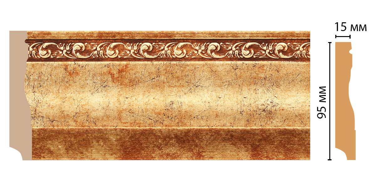 Плинтус напольный DECOMASTER 153-552ДМ (95*12*2400мм)