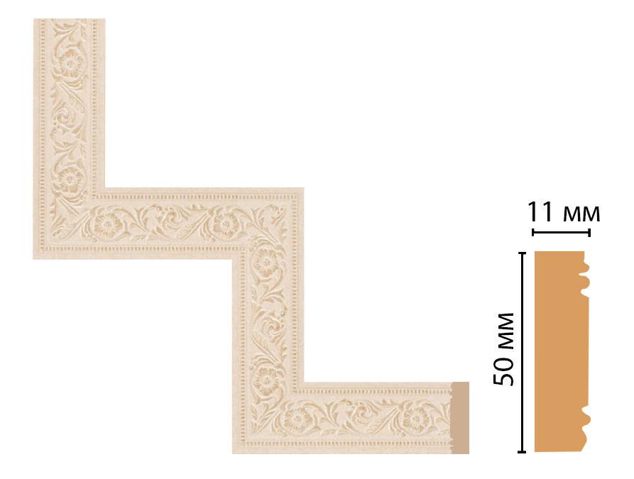 Декоративный угловой элемент DECOMASTER 156-1-18D (300*300мм)
