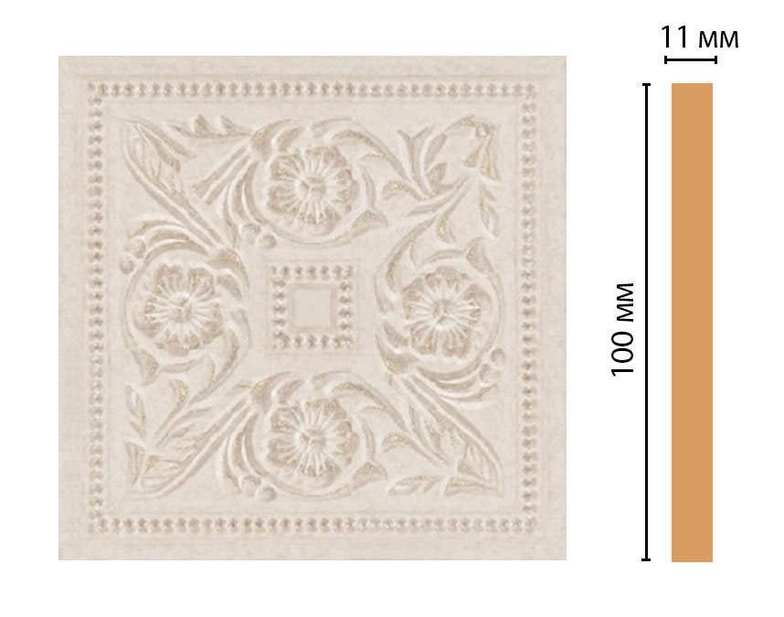 Вставка цветная DECOMASTER 156-2-19D (100*100*11мм)