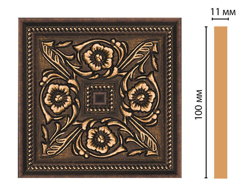 Вставка цветная DECOMASTER 156-2-56 (100*100*11мм)