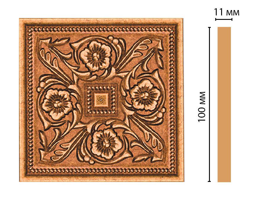 Вставка цветная DECOMASTER 156-2-58 (100*100*11мм)