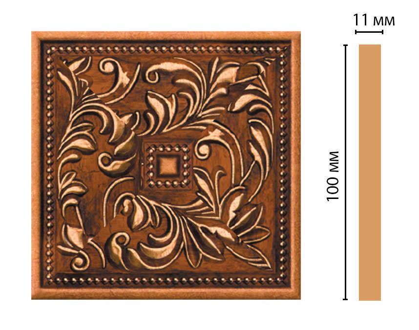 Вставка цветная DECOMASTER 156-2-1223 (100*100*11мм)