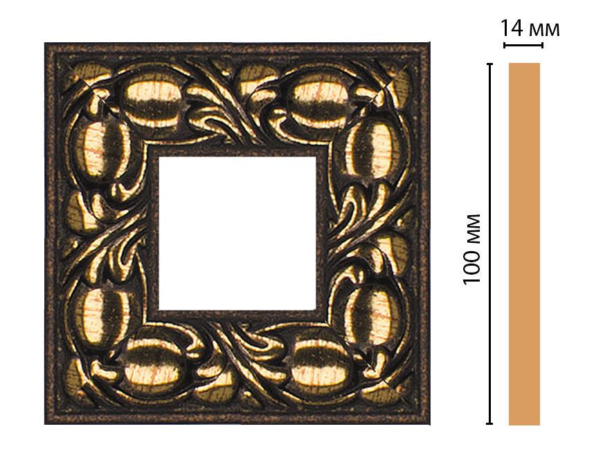 Вставка цветная DECOMASTER 157-2-56 (100*100*14мм)