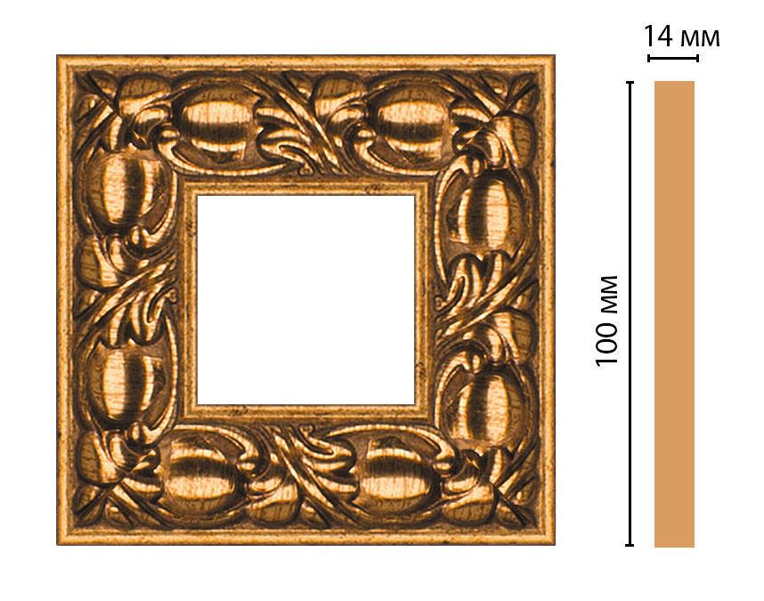 Вставка цветная DECOMASTER 157-2-58 (100*100*14мм)