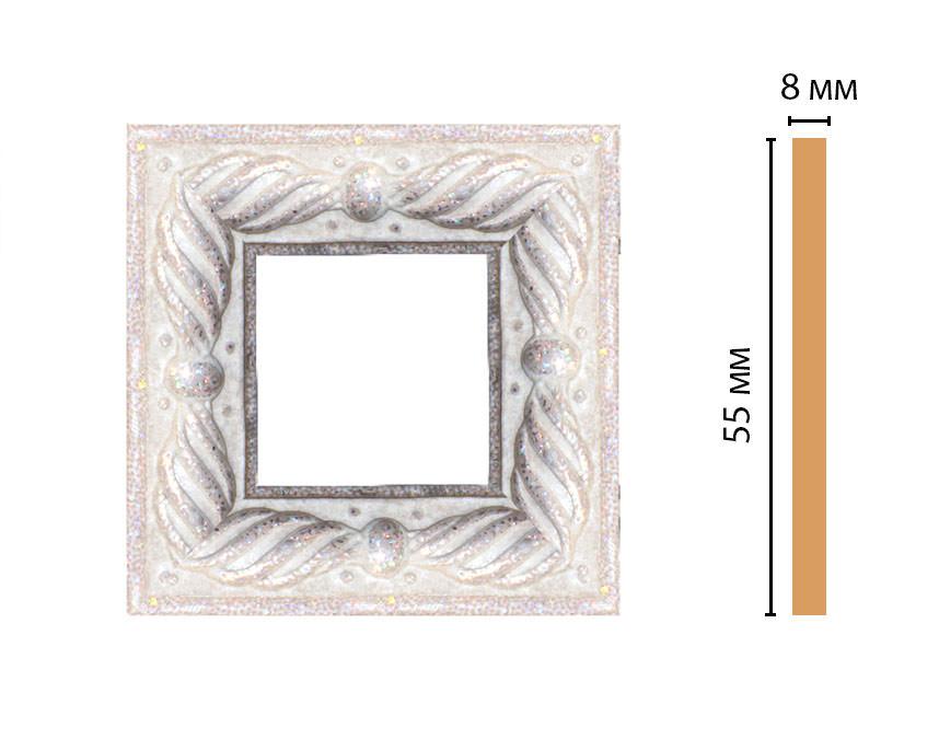 Вставка цветная DECOMASTER 130-2-19 (55*55*8мм)