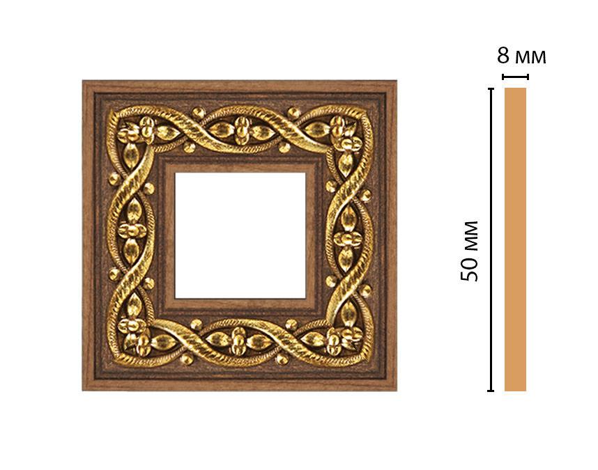 Вставка цветная DECOMASTER 130-2-3 (50*50*8мм)