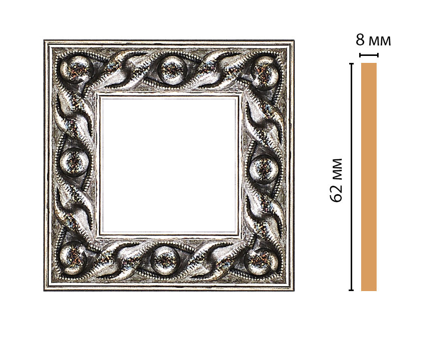 Вставка цветная DECOMASTER 130-2-44 (62*62*8мм)