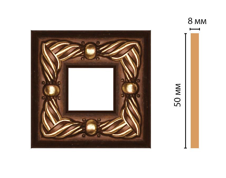 Вставка цветная DECOMASTER 130-2-51 (50*50*8мм)