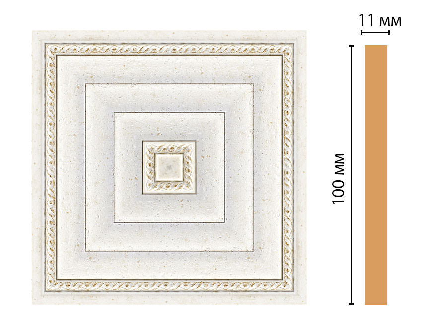 Вставка цветная DECOMASTER 156-2-40 (100*100*11мм)