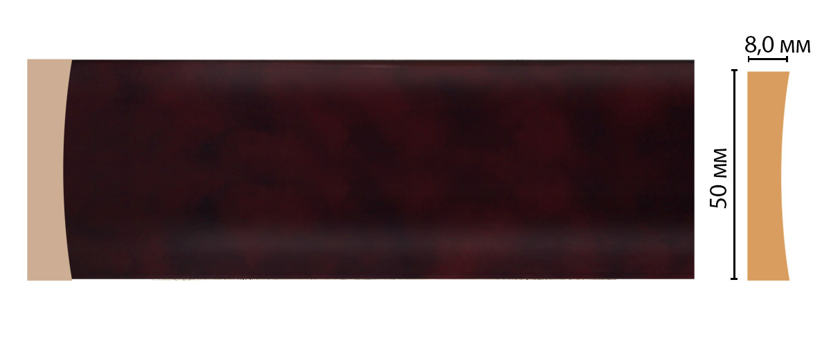 Молдинг DECOMASTER D045-62 (50*8*2400мм)