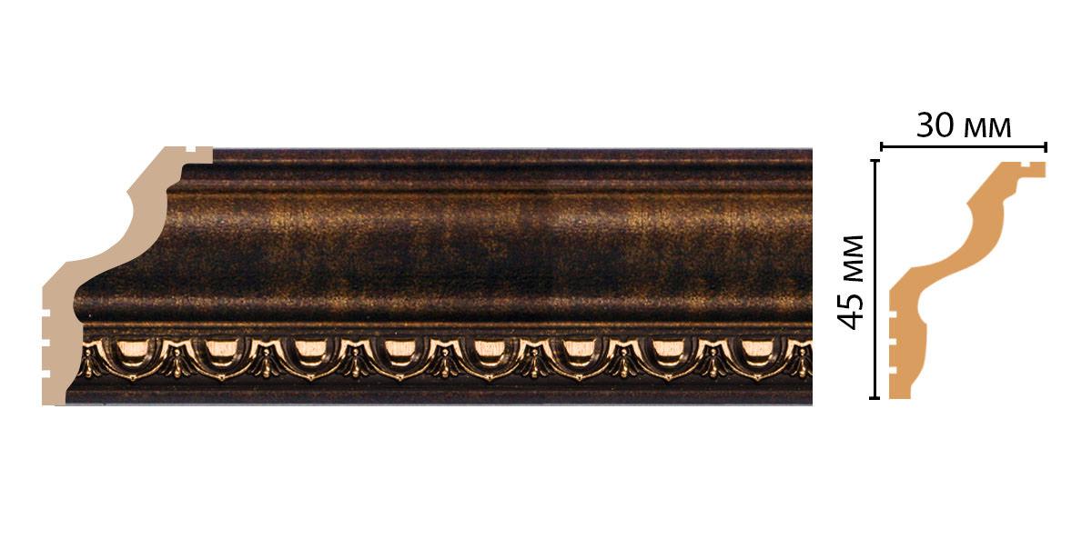 Плинтус потолочный DECOMASTER 148D-56 (45*30*2400мм)