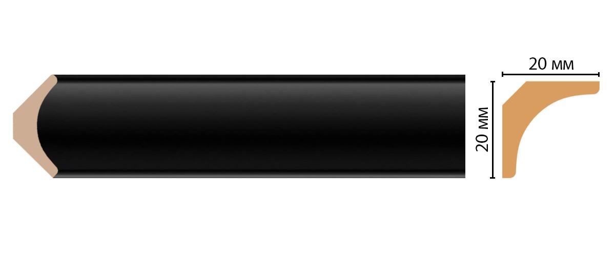 Плинтус потолочный DECOMASTER D133-195ДМ (20*20*2400мм)