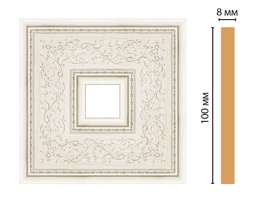 Вставка цветная DECOMASTER 188-2-15 (100*100*8мм)