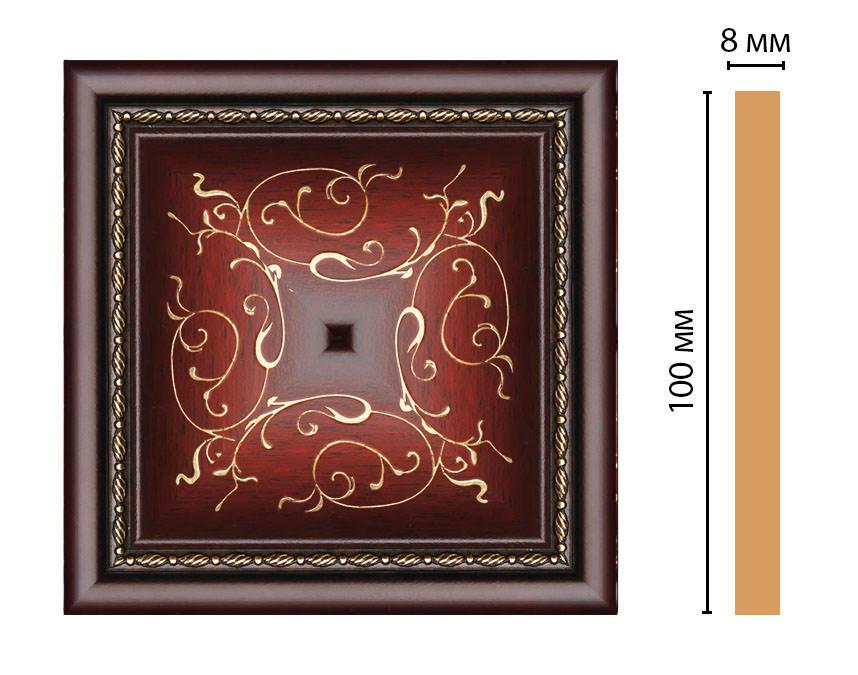 Вставка цветная DECOMASTER 186-2-52 (100*100*8мм)