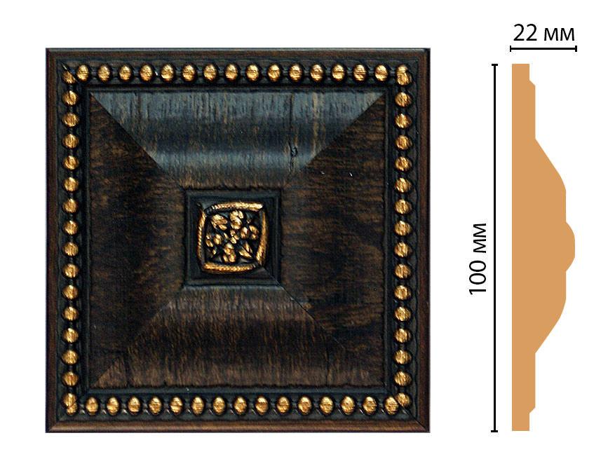 Вставка цветная DECOMASTER D209-1 (100*100*22мм)