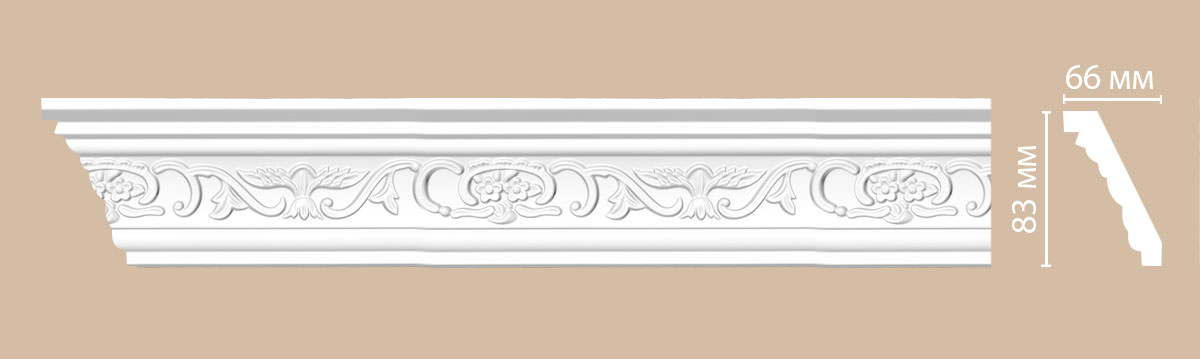 Плинтус потолочный с рисунком DECOMASTER 95036 (83*66*2400мм)