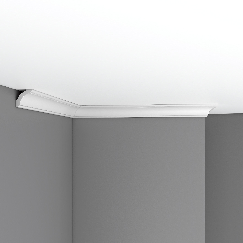 Плинтус потолочный гладкий DECOMASTER 96250 (35*35*2400мм)