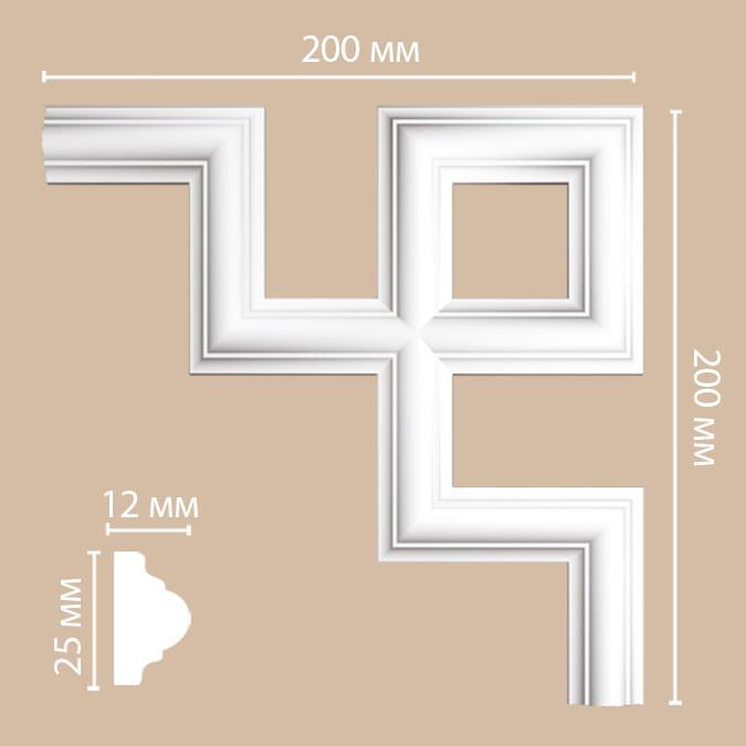 Угол DECOMASTER 97012-4 (200*200*12мм)