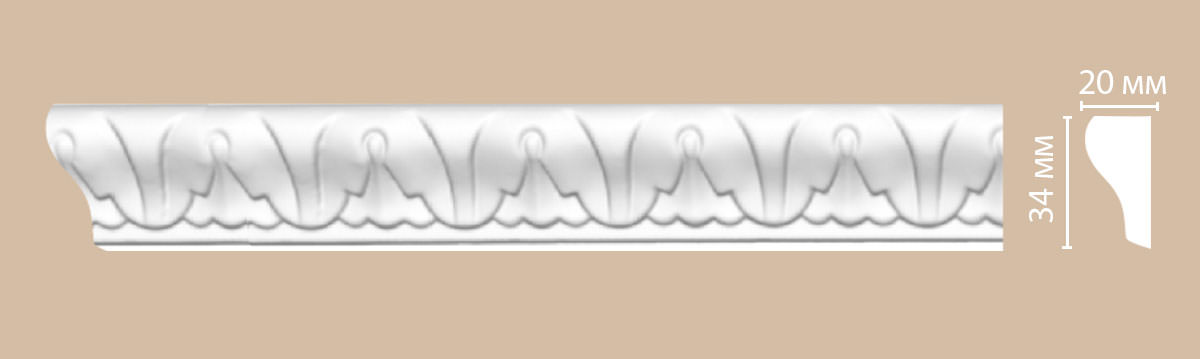 Молдинг с рисунком DECOMASTER 98031 (34*20*2400мм)