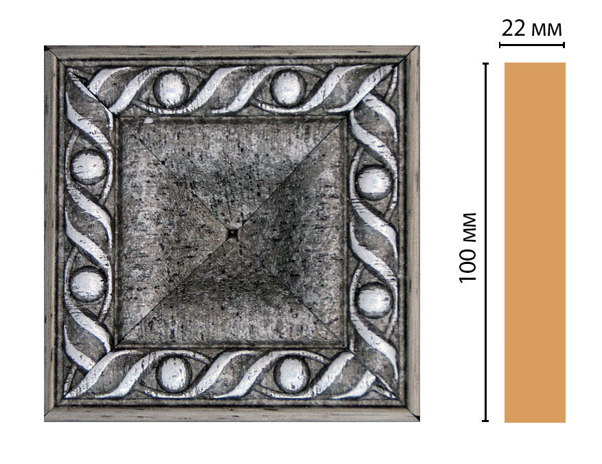 Вставка цветная DECOMASTER D207-44 (100*100*22мм)