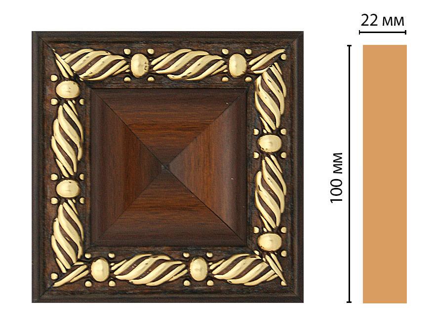 Вставка цветная DECOMASTER D207-51 (100*100*22мм)