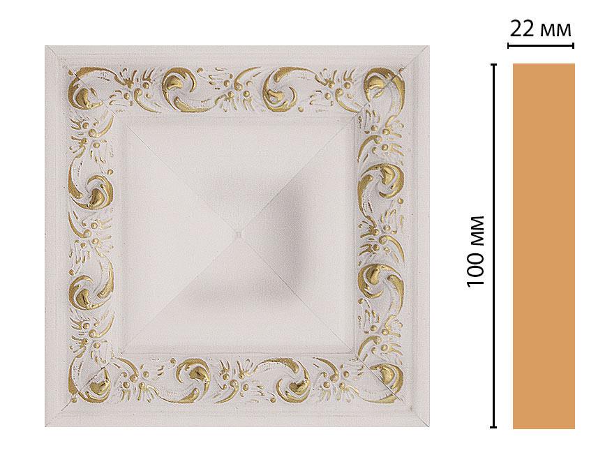 Вставка цветная DECOMASTER D207-54 (100*100*22мм)