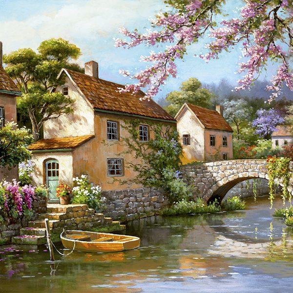 Деревня живопись