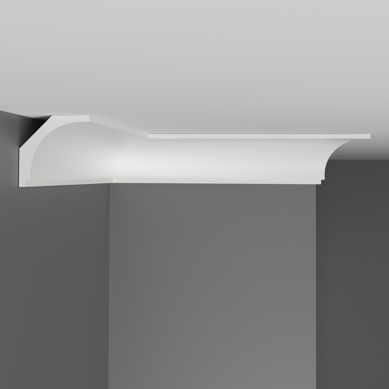 Плинтус потолочный гладкий DECOMASTER D109ДМ (43*43*2000мм)