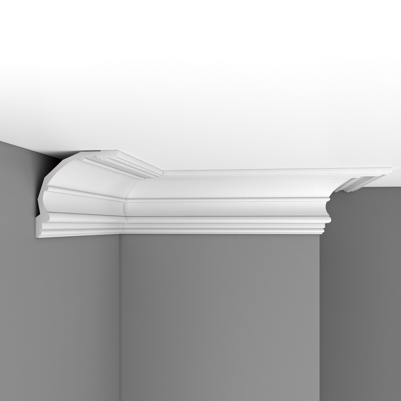 Плинтус потолочный гладкий DECOMASTER DP40 (175*172*2400мм)