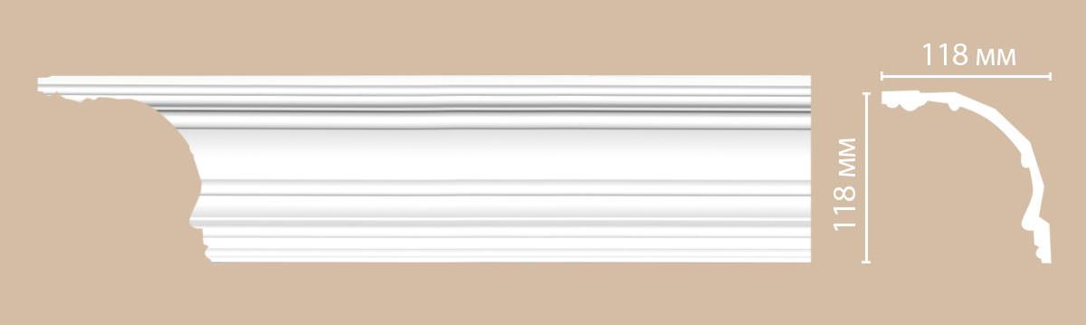 Плинтус потолочный гладкий DECOMASTER DP50 (118*118*2400мм)