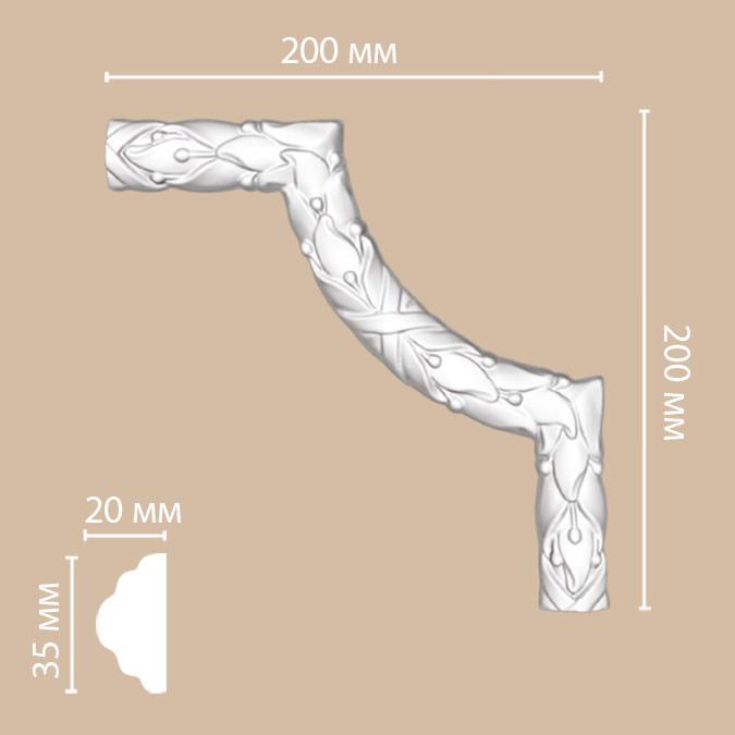 Угол DECOMASTER DP8052B (200*200*20мм)
