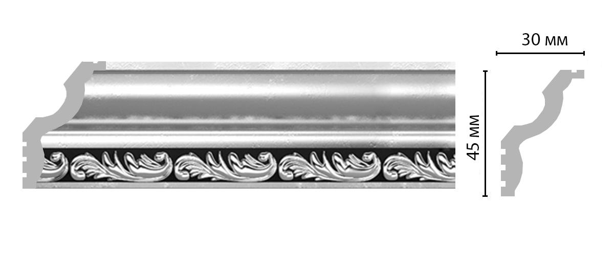 Плинтус потолочный DECOMASTER 148B-63ДМ (45*30*2400мм)