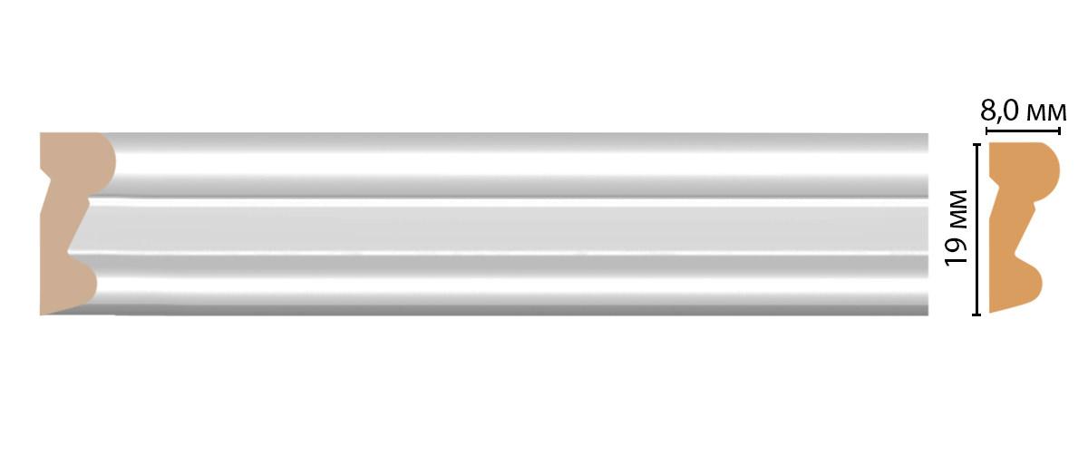 Молдинг DECOMASTER D007-114ДМ (19*8*2400мм)