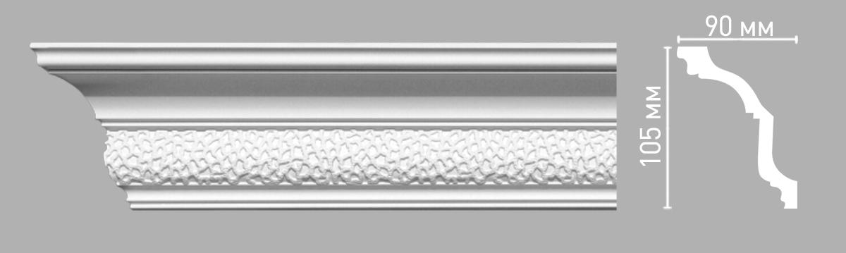 Плинтус потолочный с рисунком DECOMASTER 95102 (90х105х2400мм)