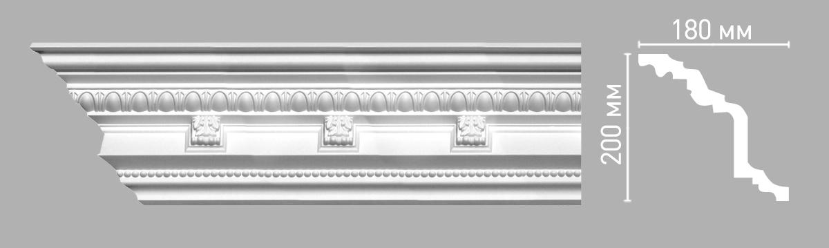Плинтус потолочный с рисунком DECOMASTER 95144 (200х180х2400мм)