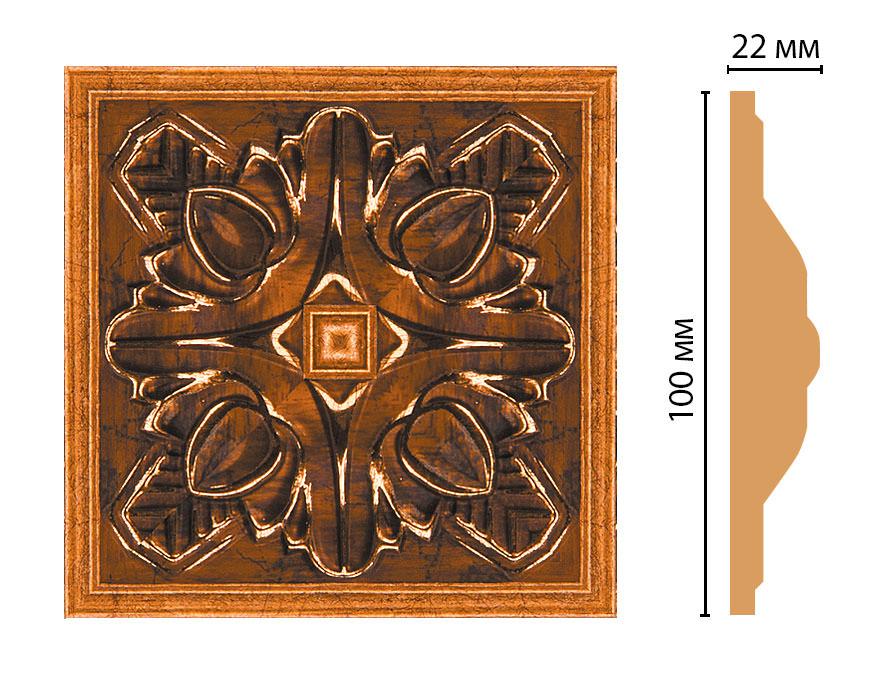 Вставка цветная DECOMASTER D209-1223 (100*100*22мм)