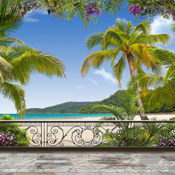 Фотообои Балкон с видом на залив