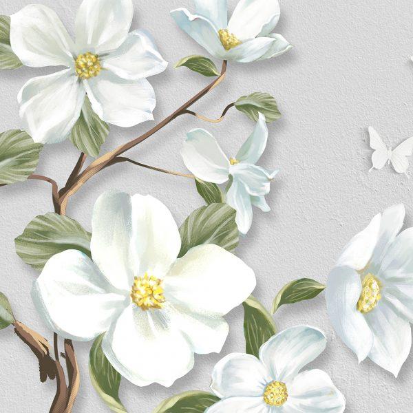 Фотообои Белые цветы на ветке