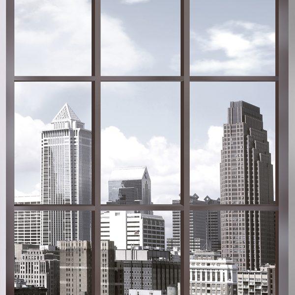 Вид из окна на мегаполис
