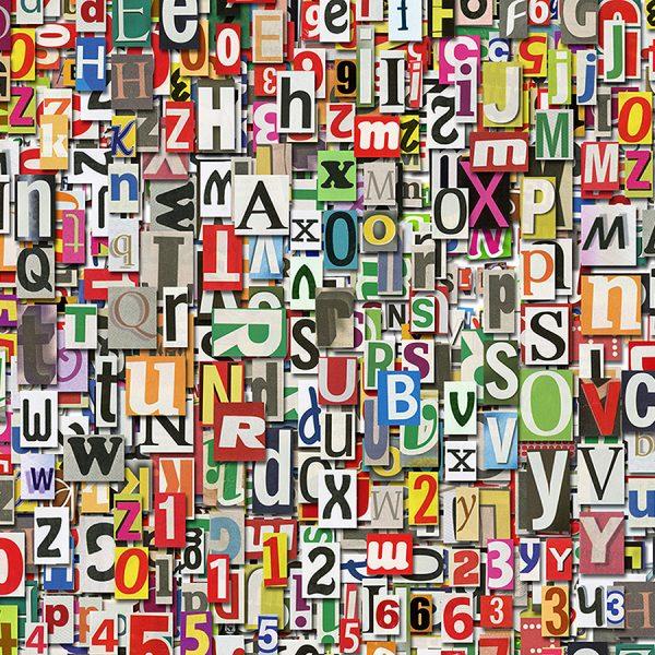 Буквы и цифры фон