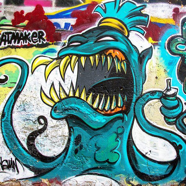 Граффити осьминог