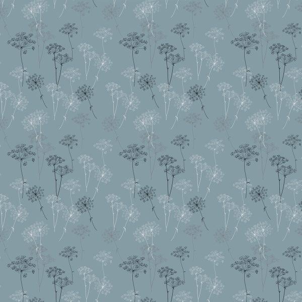Веточки укропа (голубой)