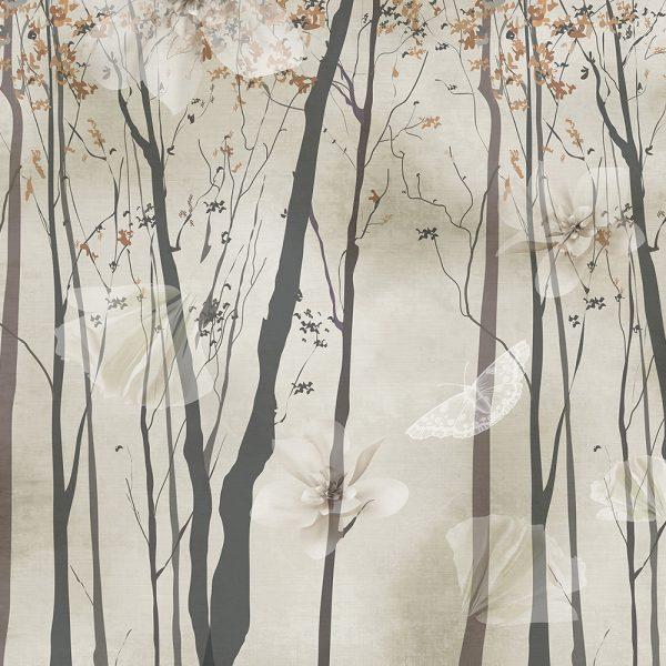 Ветви деревьев фон