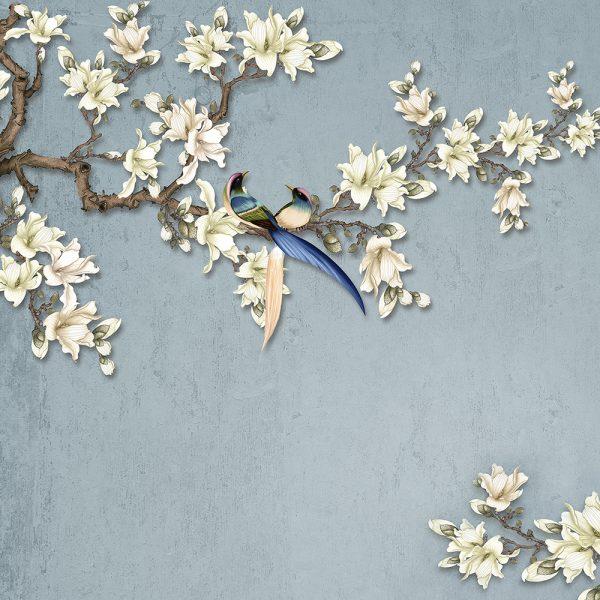 Ветви с белыми цветами